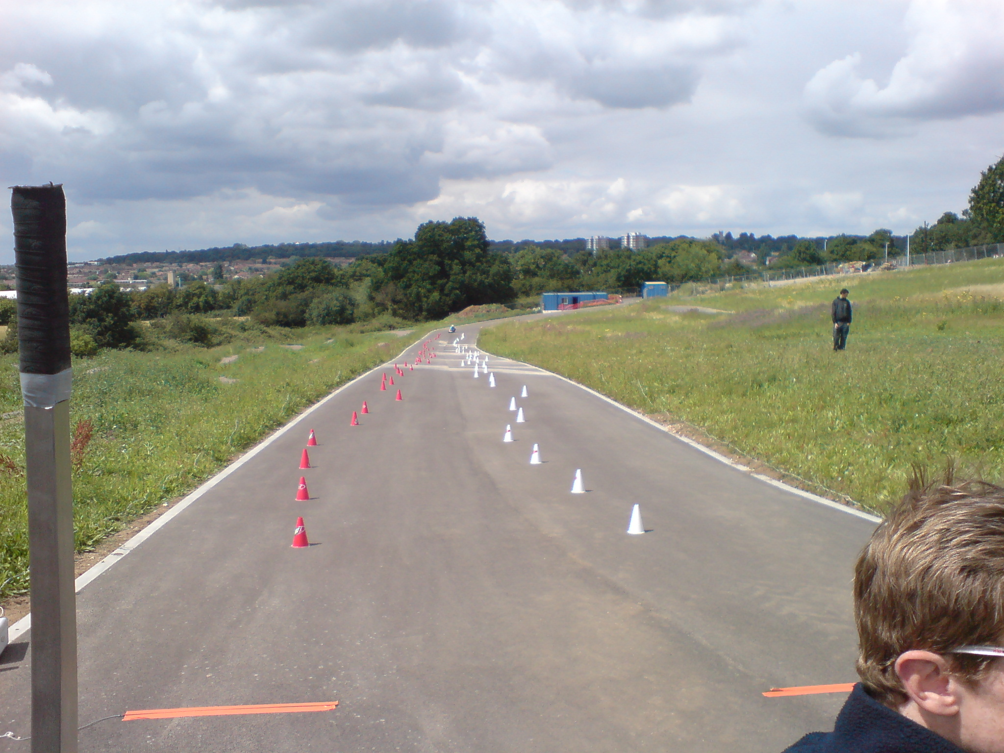 The first ever course laid down at Hog Hill on 20th July 2008. The centre was still being completed. The only facilities on site were the two blue portaloos you can see at the bottom of the hill, everything else was still very much under construction.